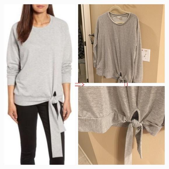 a63d3fa5b Caslon Tops | Grey Grey Side Tie Knot Sweatshirt | Poshmark